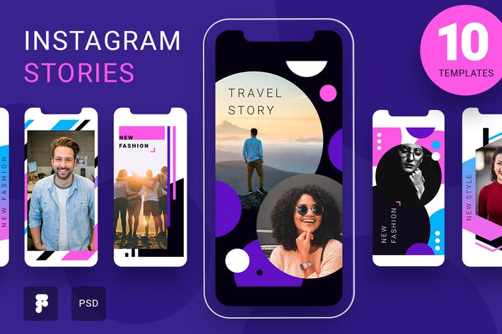 Thumbnail for Kreative Instagram-Storys Pack