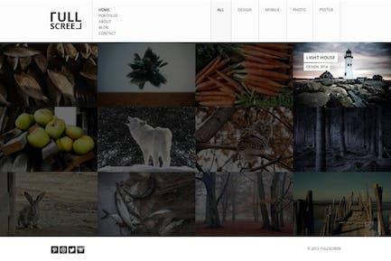 Fullscreen - Photography Portfolio Drupal Theme