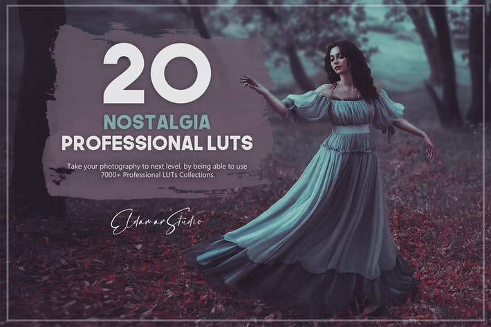 Thumbnail for 21 Nostalgia LUTs Pack