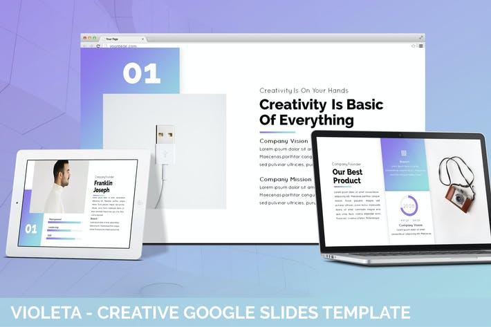 Thumbnail for Violeta - Creative Google Slides Template
