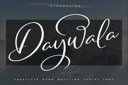 Daywala   Handwritting Script Font