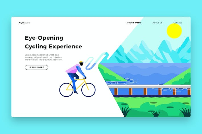 Thumbnail for Bicycle out - Banner & Landing Page
