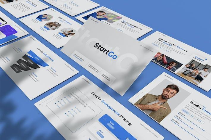 Thumbnail for StartGo - План проекта Powerpoint Шаблон