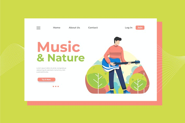 Thumbnail for Music and Nature Landing Page Illustration