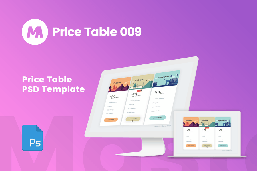 MA - Pricing Table 009