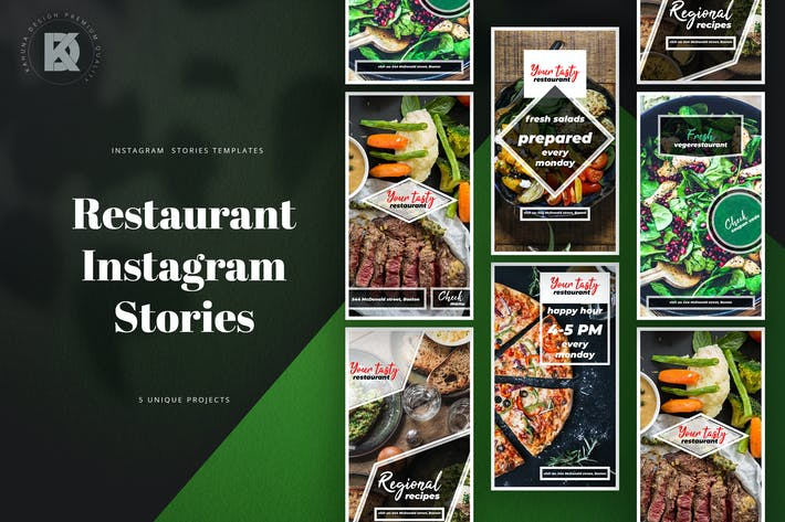 Thumbnail for Restaurant Instagram Stories