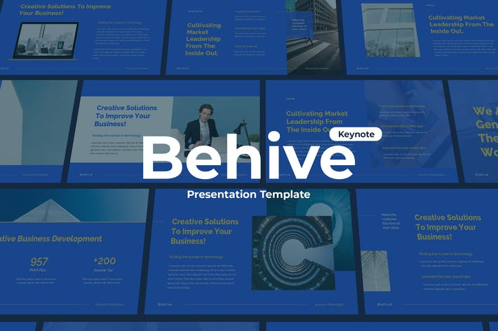 Thumbnail for Behive - Keynote Template