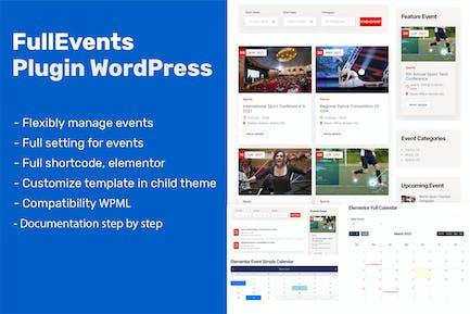Event Plugin WordPress - FullEvents