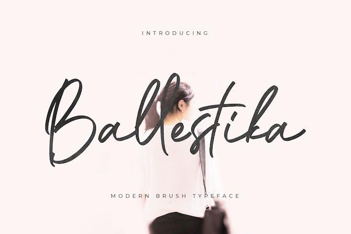 Thumbnail for Ballestika Script Font