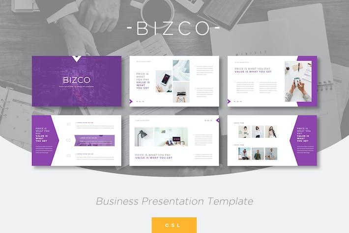 Thumbnail for Bizco - Google PräsentationsVorlage Unternehmen