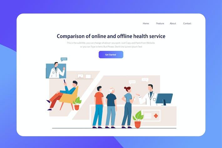 Thumbnail for Online Hospital - Website Header Illustration