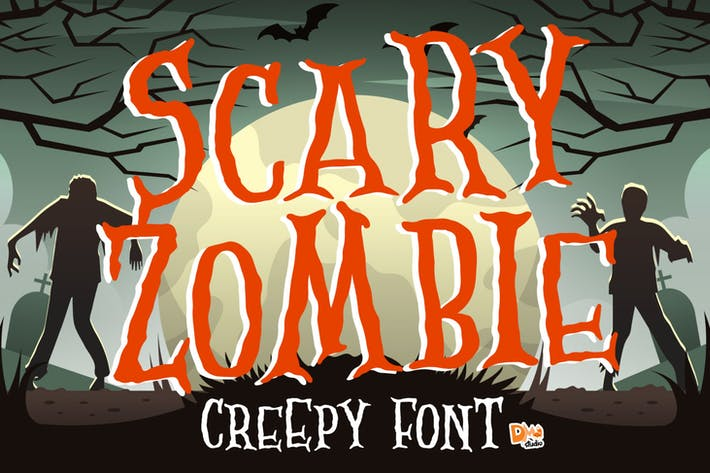 Thumbnail for Scary Zombie - Spooky Font