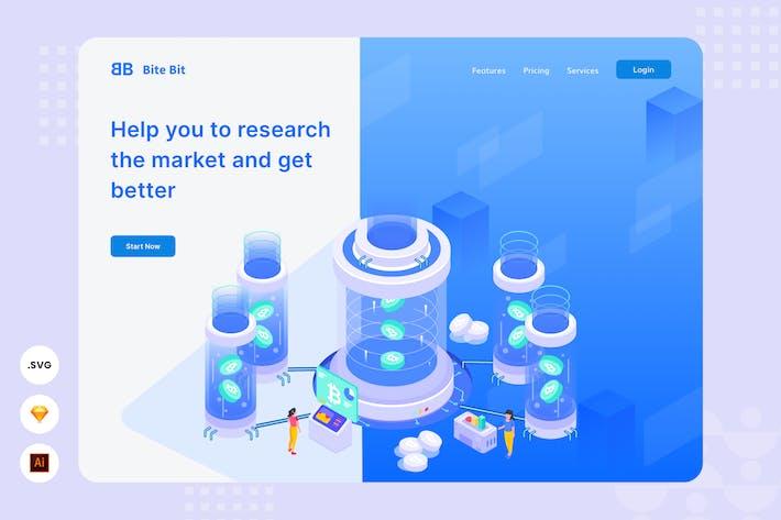 Market Researcher - Website Header Illustration