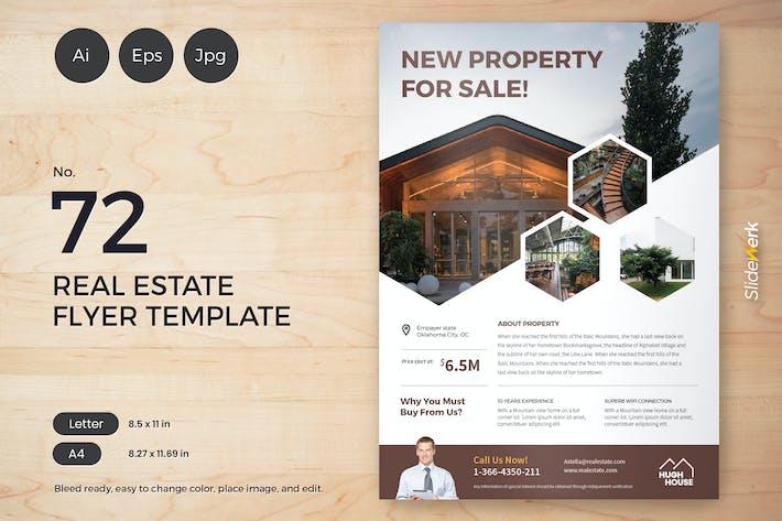 Thumbnail for Real Estate Flyer Template 72 - Slidewerk