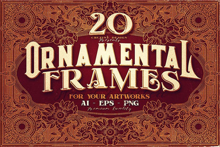 Thumbnail for 20 Ornamental Vintage Frames