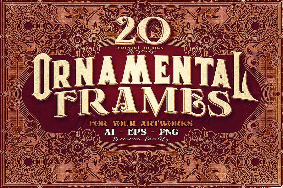 20 Ornamental Vintage Frames