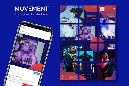 Movement - Instagram Puzzle Template