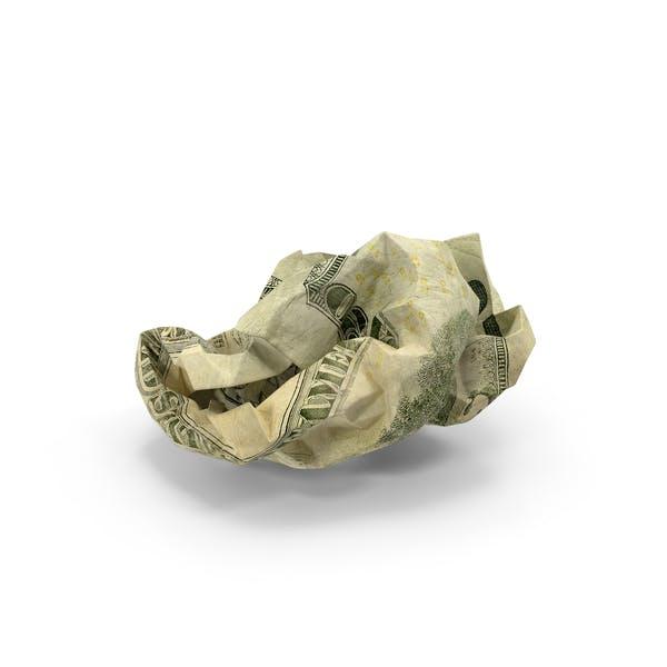 Thumbnail for US 20 Dollar Bill Crumpled