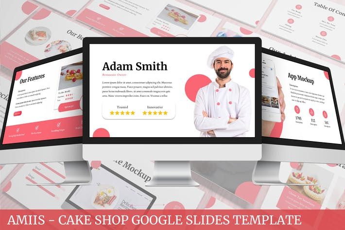 Thumbnail for Amiis - CakeShop Google Slides Template