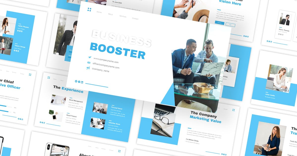 Download Business Booster - Multipurpose Keynote Template by CocoTemplates