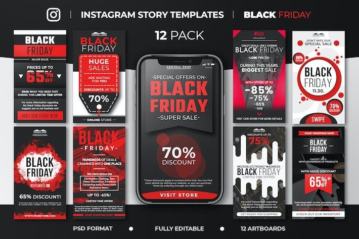Thumbnail for Black Friday Instagram Story Feed Vorlagen