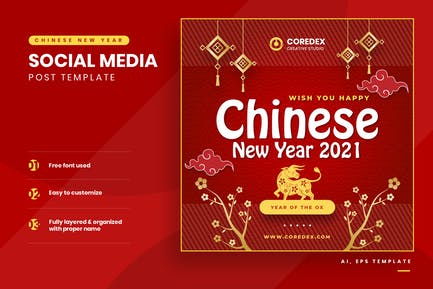 Chinese New Year Instagram Template
