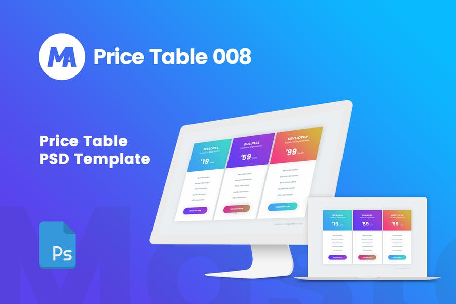 MA - Pricing Table 008