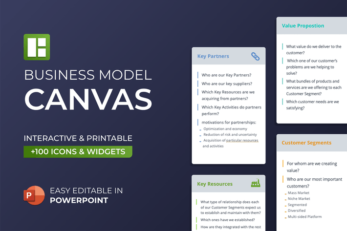 Thumbnail for Business Model Canvas PowerPoint Template