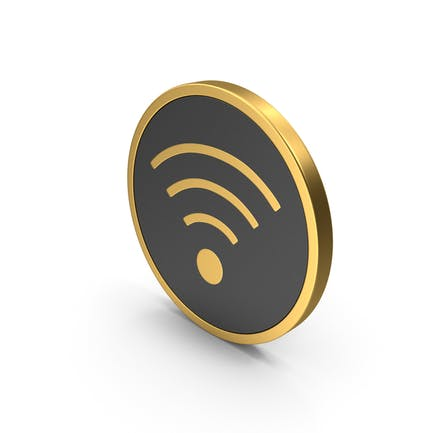 Золотая иконка WiFi