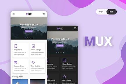 MUX - Material Design UI Kit Mobile Template