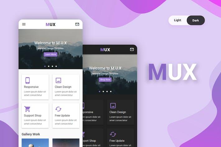 Thumbnail for MUX - Material Design UI Kit Mobile Template
