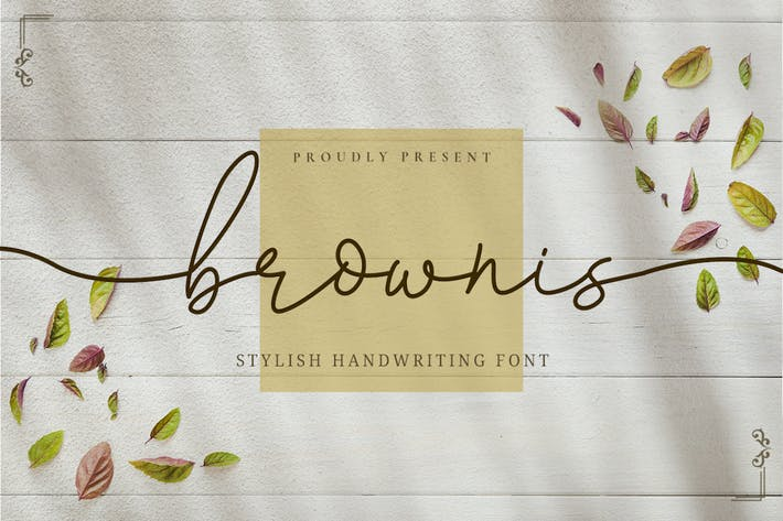 Thumbnail for Brownis - Stylish Handwriting Font
