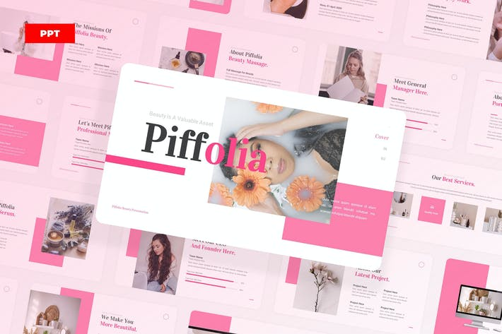 Thumbnail for Piffolia Уход за красотой PowerPoint UP