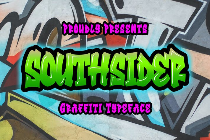 Thumbnail for Southsider - Graffiti Typeface