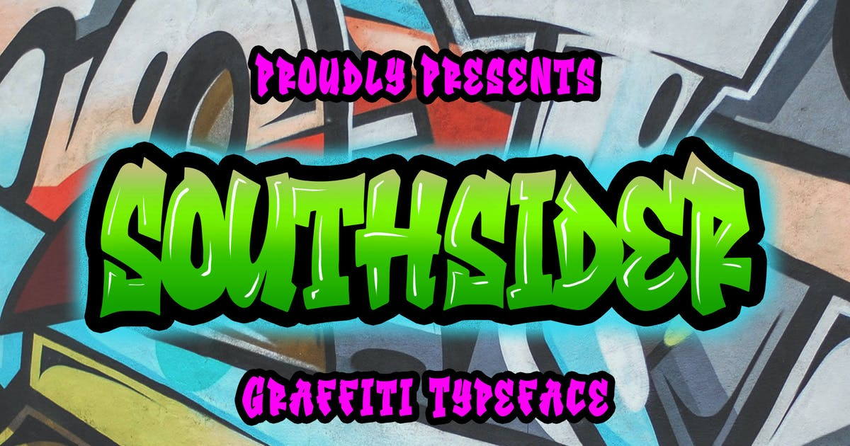 Download Southsider - Graffiti Typeface by Blankids