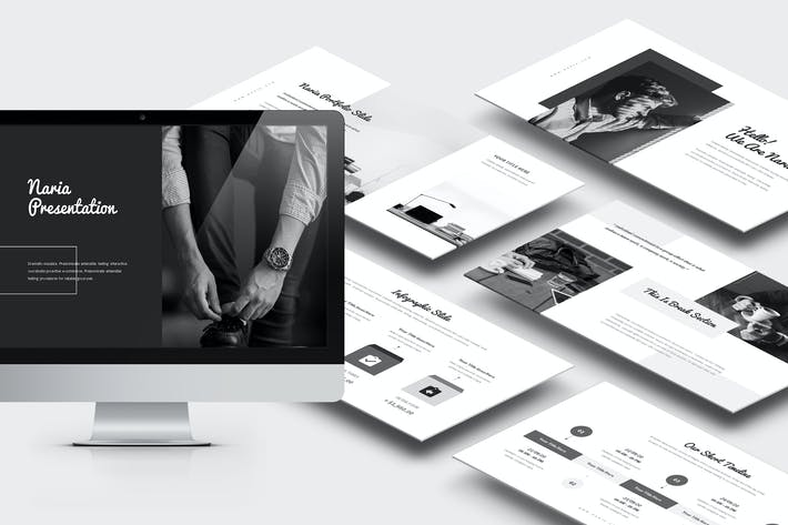 Нария: Бизнес-профиль Google Слайды Шаблон