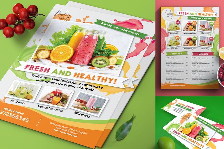 Juice Menu Flyer + Business Card