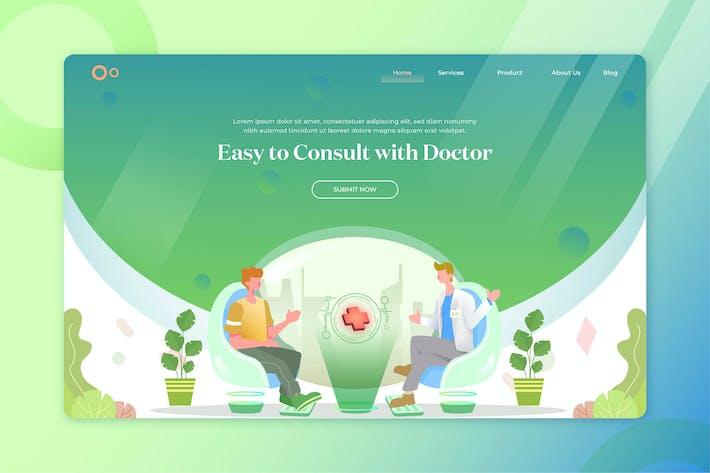 Thumbnail for Hero Header Illustration Landing Pages