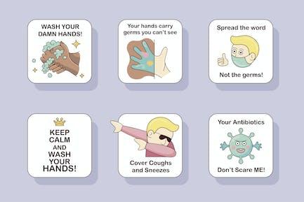 Virenschutz-Badges