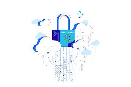 Security cloud storage