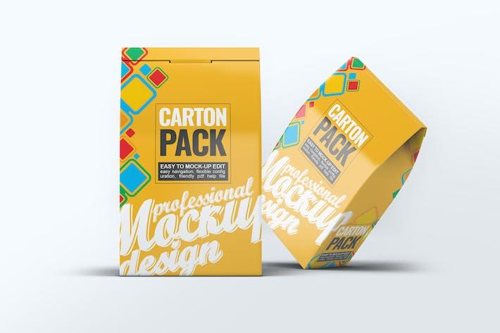 Thumbnail for Carton Box Pack Mock-Up