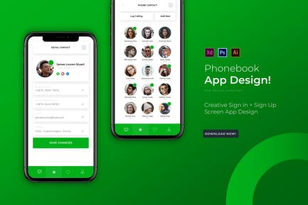 Phonebook | App Design Template