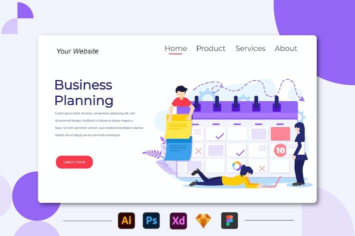 Thumbnail for Planification d'affaires - Page de destination