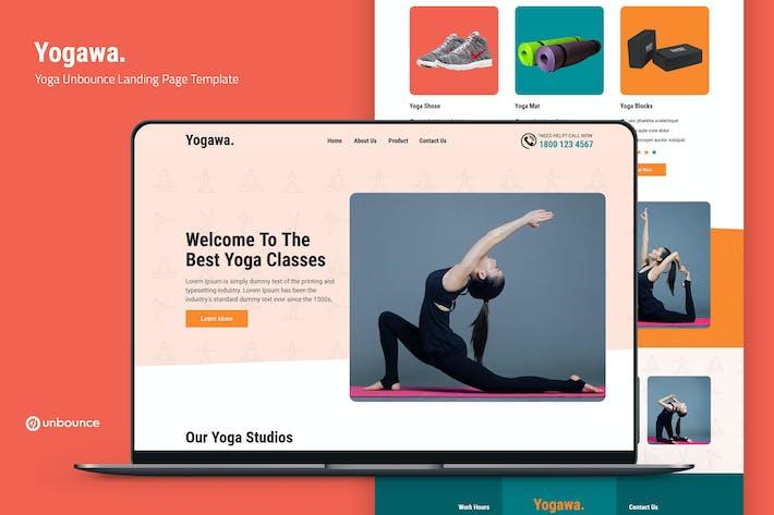 Yogawa — Йога Unbounce Шаблон целевой страницы