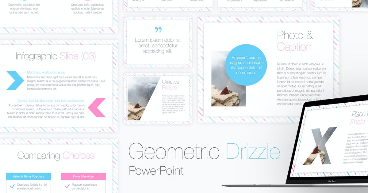 Download Geometric Drizzle PowerPoint Template by Jumsoft