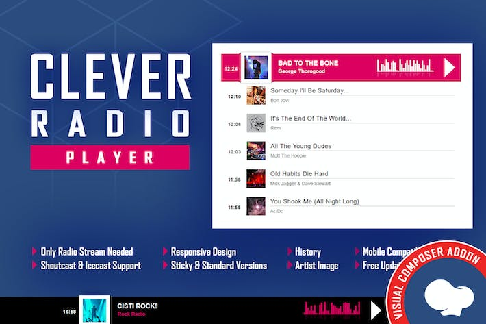 Thumbnail for CLEVER - HTML5 Radio Player - Addon For WPBakery