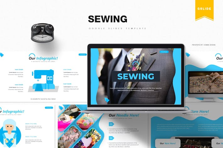 Thumbnail for Sewing | Google Slides Template