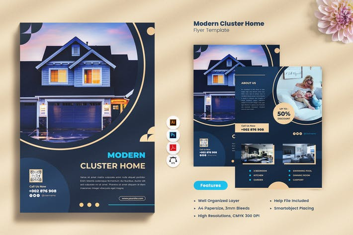 Thumbnail for Modern Cluster Home Flyer
