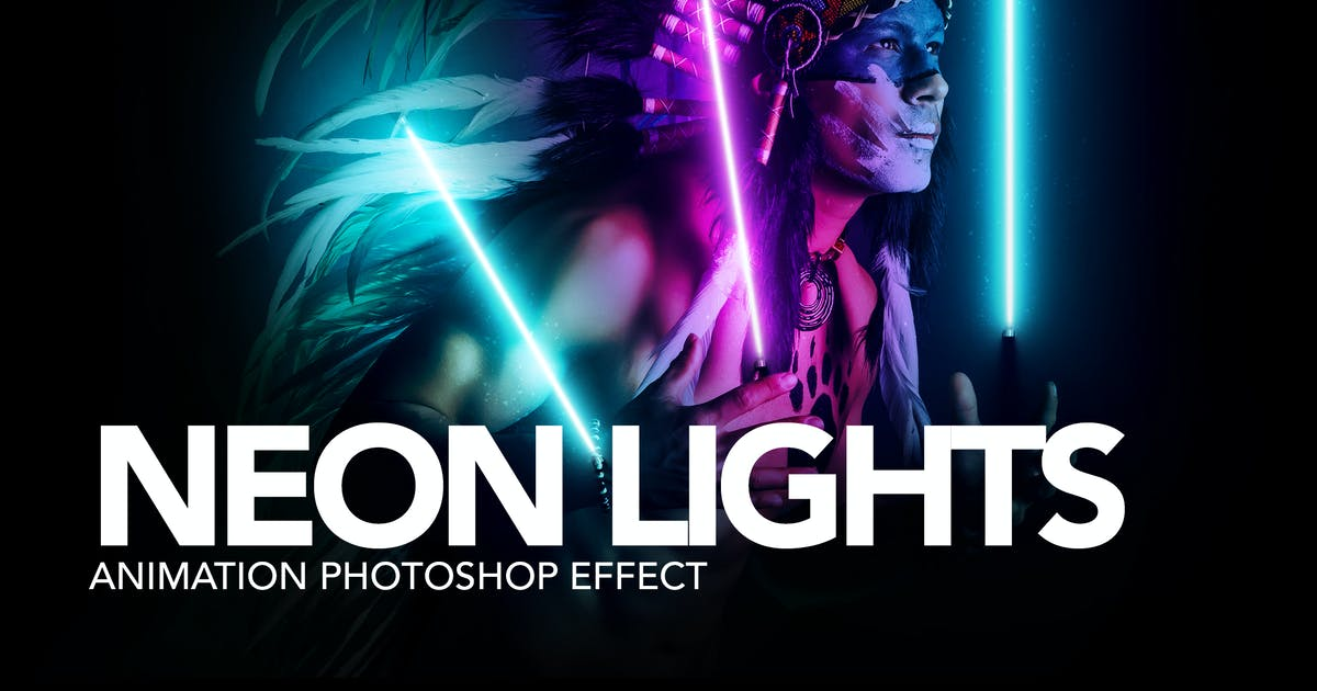 Download Gif Animated Neon Light Photoshop Action by sreda
