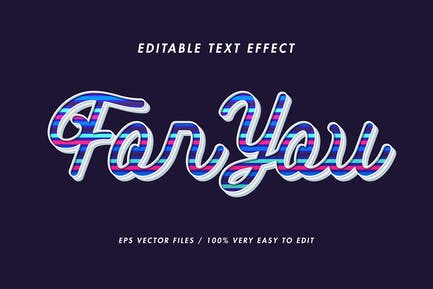 Lines colorful text effect